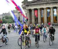 A lot of people ride bikes and care about cycling in Scotland's capital - Critical Mass offers a regular opportunity to come together and engage over shared interests (while having a good time!)